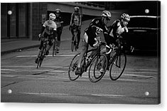City Street Cycling Acrylic Print