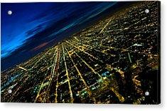 City Street Lights Above Acrylic Print
