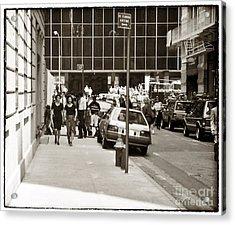 City Streets 1990s Acrylic Print by John Rizzuto