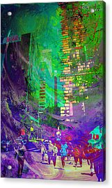 City Streets Acrylic Print by John Fish