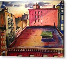 City Sunset Acrylic Print by Maxwell Mandell
