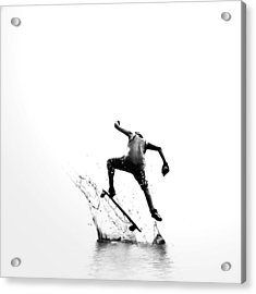 City Surfer Acrylic Print