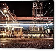 City Traffic Acrylic Print by Anna-Lee Cappaert