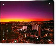 City - Vegas - Ny - Sunrise Over The City Acrylic Print by Mike Savad