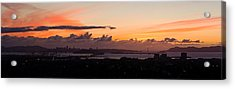 City View At Dusk, Emeryville, Oakland Acrylic Print