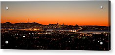 City View At Dusk, Oakland, San Acrylic Print by Panoramic Images
