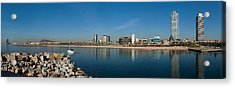 City View From Port Olimpic, Barcelona Acrylic Print