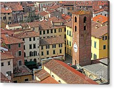 City View Of Lucca With The Clock Tower Acrylic Print