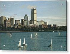 City View Sail Acrylic Print by Julia O'Malley-Keyes