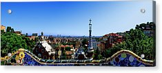 City Viewed From Park Guell, Barcelona Acrylic Print