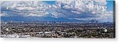City With Mountain Range Acrylic Print