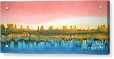 Citylights Acrylic Print by Addie Hocynec