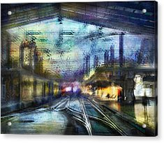 Cityscape #37 - Crossing Lines Acrylic Print by Alfredo Gonzalez