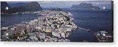Cityscape Alesund Norway Acrylic Print
