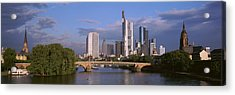Cityscape, Alte Bridge, Rhine River Acrylic Print by Panoramic Images