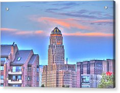 Cityscape Acrylic Print by Kathleen Struckle
