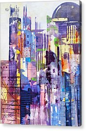 Cityscape Acrylic Print by Katie Black