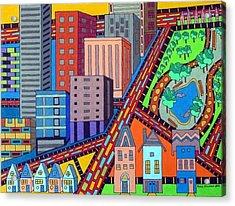 Cityscape Acrylic Print by Molly Williams