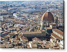 Cityscape Of Florence Acrylic Print by Sami Sarkis