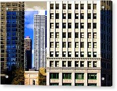 Cityscape Windows Acrylic Print