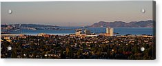 Cityscape With Golden Gate Bridge Acrylic Print