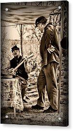 Civil War Banjo Player Acrylic Print by Paul Ward