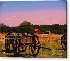 Civil War Caisson At Gettysburg Acrylic Print by Eric  Schiabor