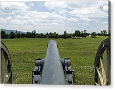 Civil War Cannon  Acrylic Print by David Lester