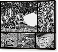 Acrylic Print featuring the photograph Civil War Collage by Geraldine DeBoer