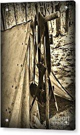 Civil War  Duty Belt Acrylic Print by Paul Ward
