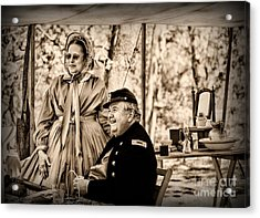 Civil War Officer And Wife Acrylic Print by Paul Ward