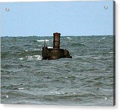 Civil War Shipwreck Acrylic Print by Brian M Lumley