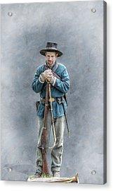 Civil War Soldier Co. F 78th Pvi Acrylic Print by Randy Steele