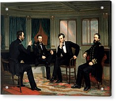 Civil War Union Leaders -- The Peacemakers Acrylic Print by War Is Hell Store
