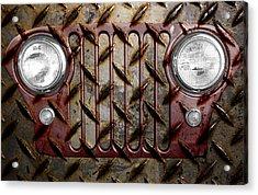 Civilian Jeep- Maroon Acrylic Print