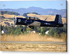 Acrylic Print featuring the photograph Cj-6 Southern Comfort Gear Coming Up N26yk by John King