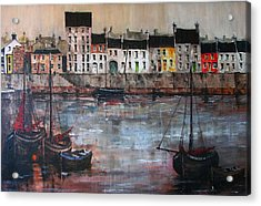Cladagh Harbour In Galway Acrylic Print
