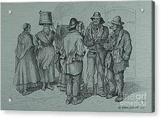 Claddagh People 1873 Acrylic Print