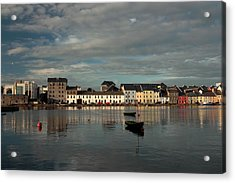 Claddagh  Quays. Acrylic Print by Peter Skelton