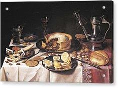Claesz, Pieter 1597-1661. Still Life Acrylic Print by Everett