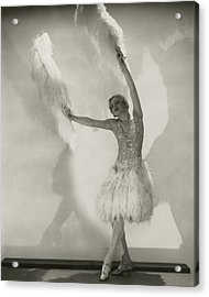Claire Luce Holding Ostrich Feathers Acrylic Print