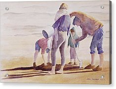 Acrylic Print featuring the painting Clam Diggers by John  Svenson