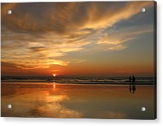 Clam Digging At Sunset - 4 Acrylic Print