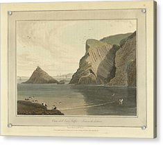 Clam-shell Cave On Staffa Acrylic Print by British Library