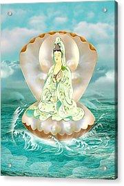 Clam-sitting Kuan Yin Acrylic Print