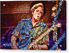 Clapton's Musical Energy Acrylic Print by Tyler Robbins