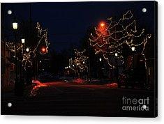 Clare Michigan At Christmas 12 Acrylic Print