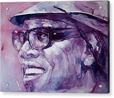 Clarence Clemons Acrylic Print by Laur Iduc