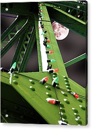 Acrylic Print featuring the digital art Clarence's Bridge by Tom Romeo