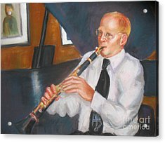 Clarinet At Palm Court Acrylic Print